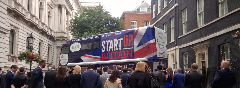 StartUp Britain bus in Downing Street