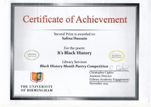Safina Hussain black history award Oct 20150001