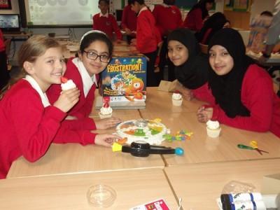 Olivia, Abida, Fatima and Dania