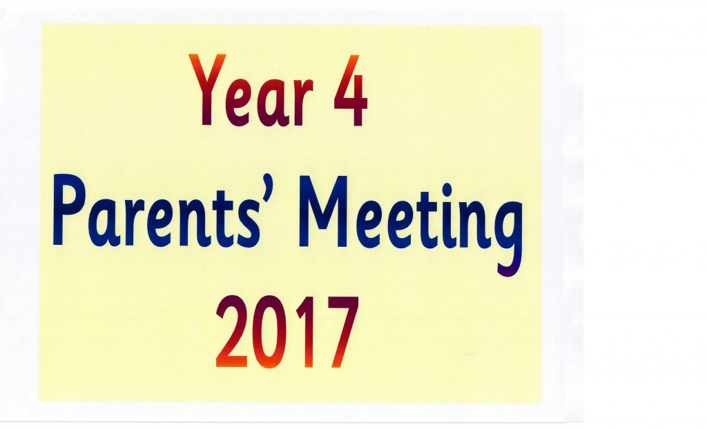 Year 4 Parents Meeting 20170001